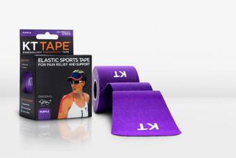 KT Tape Original Cotton Kinesiology Tape - Pre-cut Single Roll - Purple