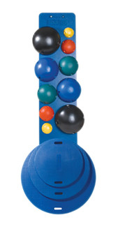 Cando MVP Balance System 5-Ball Set with Wall Rack