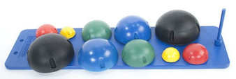 This set also comes with a wall rack, which can conveniently store all 10 instability balls easily.