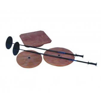 Fitter Wobble Board Set, with 16- and 20-inch Round Boards, 20-inch Square Board, and Stand
