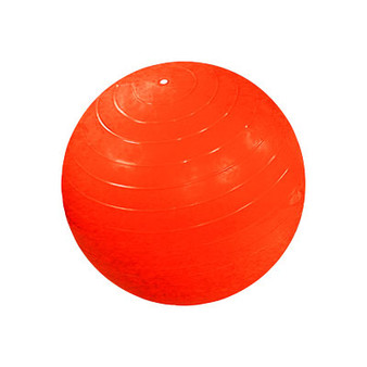Cando Inflatable Exercise Ball (Orange, 22 inches)