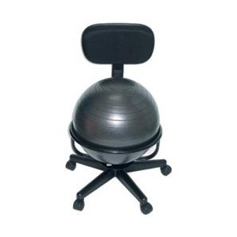 Cando Ball Chair (Metal, Mobile, with Back, no Arms, with 22-inch Ball)