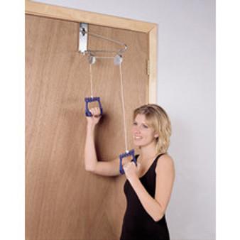 CanDo® Overdoor Shoulder Pulley - Double Pulley with Door Bracket