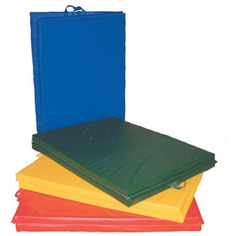 "CanDo® Mat with Handle - Center Fold - 1-3/8"" PE Foam with Cover - 6' x 12' - Specify Color"