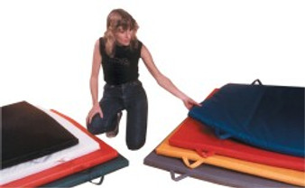 "CanDo® Mat with Handle - Non Folding - 2"" EnviroSafe® Foam with Cover - 6' x 12' - Specify Color"