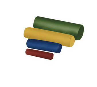 Positioning and vestibular rolls are covered with heavy-duty vinyl-coated nylon, filled with high compression urethane foam.