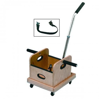 Straight Handle Work Device Mobile Weighted Cart with Accessory Box