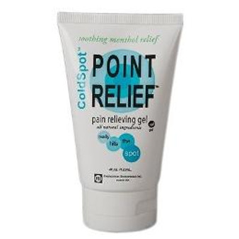 Point Relief Coldspot Lotion for Relieving Pain (4 oz gel tube)