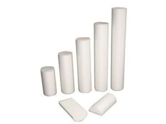 Cando White PE Foam Round Roller (Slim, 6 x 12 inches, 36 pieces)