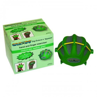 CanDo® Digi-Extend n' Squeeze® Hand Exerciser - Large - Green, moderate