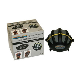 CanDo® Digi-Extend n' Squeeze® Hand Exerciser - Medium - Black, x-heavy
