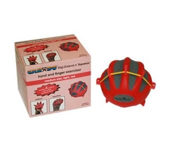 CanDo® Digi-Extend n' Squeeze® Hand Exerciser - Medium - Red, light