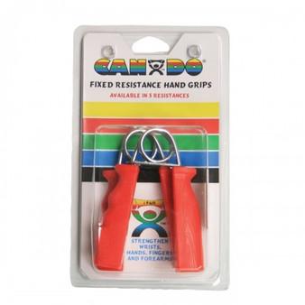 CanDo® Ergonomic Hand Grip, Pair - Red, light - 6 lb