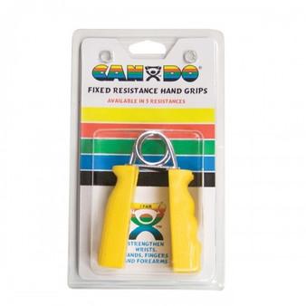 CanDo® Ergonomic Hand Grip, Pair - Yellow, x-light - 3 lb