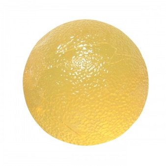 CanDo® Gel Squeeze Ball - Standard Circular - Yellow - X-Light