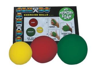 Cando Memory Foam Squeeze Ball (3-piece set, Dozen)