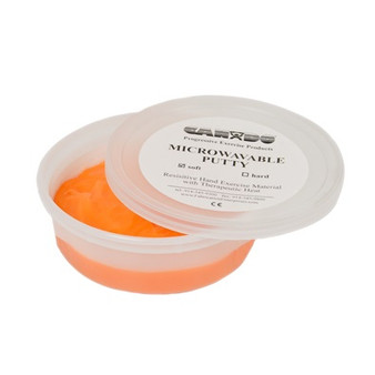 CanDo® Microwavable Theraputty® Exercise Material - 3 oz - Orange - Soft
