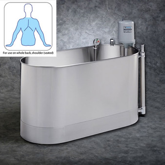 110 Gallon Stationary Whirlpool Effective for both upper and lower extremity therapeutic whirlpool treatment.