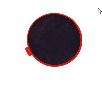 2-Inches Round Red Rubber Electrode