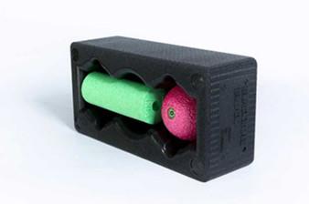 """BLOCK Set: 12""""x 6"""" x 4"""" Black BLOCK, 6"""" x 2"""" Green MINI Roll, 3.2"""" Pink Ball"""