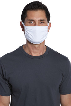 This bulk pack of white face masks will fit most adult head sizes.