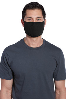 Black Adult 100% Cotton Three-Ply Face Masks Bulk Products
