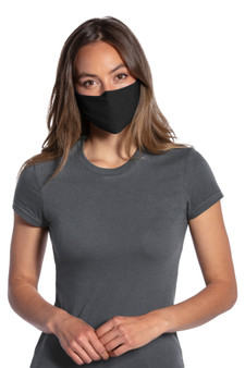 Woman Wearing Single-Layer Cotton Fabric Mask