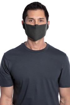 Man Wearing Single-Layer Cotton Fabric Mask
