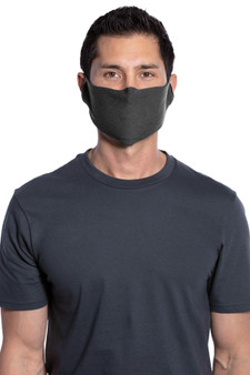 Man Wearing Single-Layer Cotton Fabric Mask