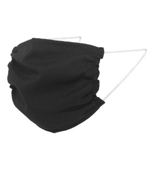 Black Polyester Single Layer Face Mask for COVID-19 Response