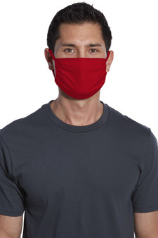 Red Cotton Face Masks for Sale - Small Bulk Pack of 5