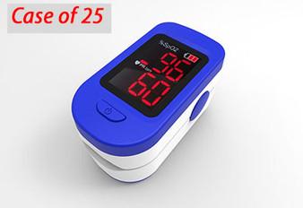 Portable Finger Tip Pulse Oximeter, Case of 25