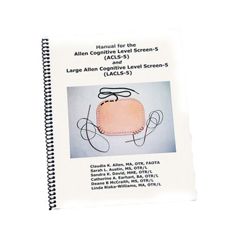 Spiral bound manual for Allen Cognitive Screening