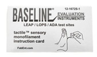 Single Disposable with sleeve 5.07-10 gram Baseline Tactile Monofilament single ADA/LEAP/LOPS Program