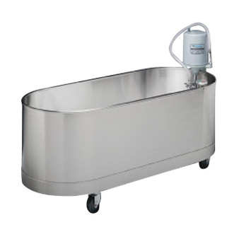 Whitehall Stainless Steel Lo-Boy Mobile Whirlpool (WH-L-90-M)