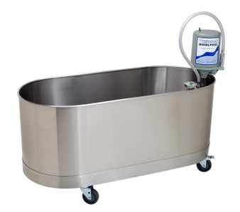 Whitehall Stainless Steel 75 Gallon Lo-Boy Mobile Whirlpool