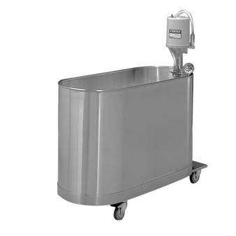 Whitehall Stainless Steel Hi-Boy 90 Gallon Mobile Whirlpool (WH-H-90-M)
