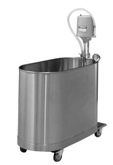 Whitehall Stainless Steel Hi-Boy 75 Gallon Mobile Whirlpool (WH-H-75-M)