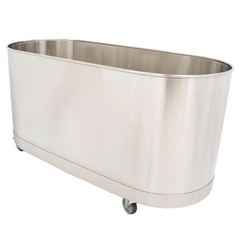 Whitehall Stainless Steel Hi-Boy 60 Gallon Mobile Cold Tank W/Out Turbine (WH-60-H-M-TO)
