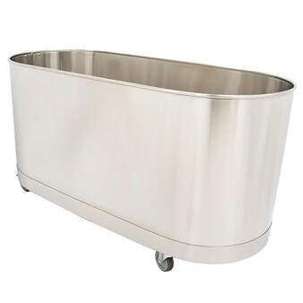 Whitehall Stainless Steel Lo-Boy 75 Gallon Mobile Cold Tank W/Out Turbine (WH-75-L-M-TO)
