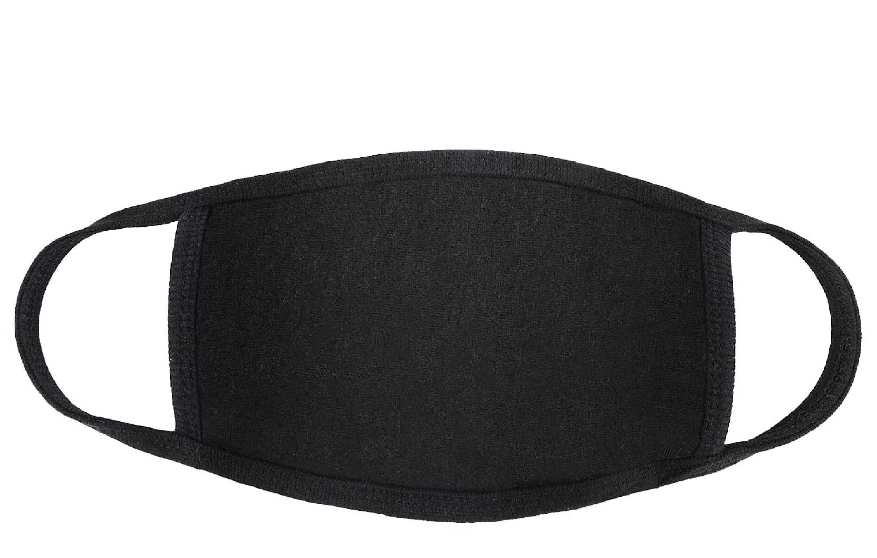 Black 100 Cotton 2 Ply Masks Made In Usa Bulk Pack Of 1 000