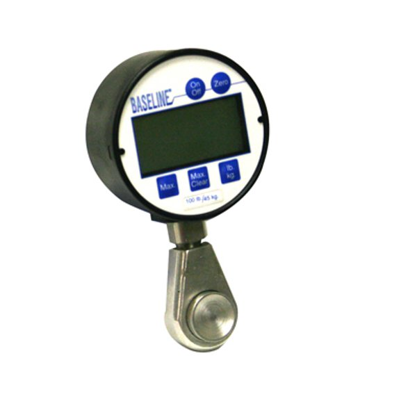 The Baseline Digital Pinch Gauge makes reading pinch strength easy with its large LCD display.