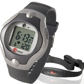 Pedometers and heart rate monitors from EKHO and others.