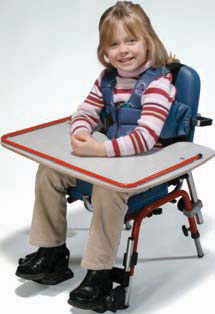 Adaptive therapy products like positioning chairs from Skillbuilders, Tumbleforms, and more.