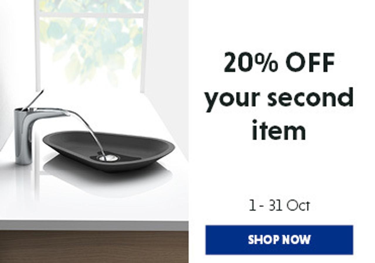 20% off second item
