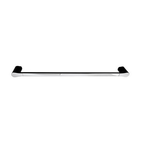 Manhattan Single Towel Rail 600mm Matte Black & Chrome [156637]