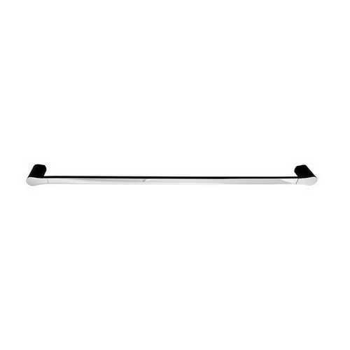 Manhattan Single Towel Rail 900mm Matte Black & Chrome [156638]