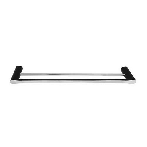 Manhattan Double Towel Rail 600mm Matte Black & Chrome [156639]