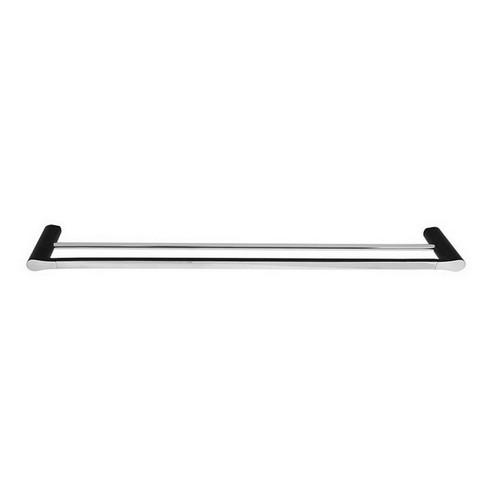 Manhattan Double Towel Rail 900mm Matte Black & Chrome [156640]