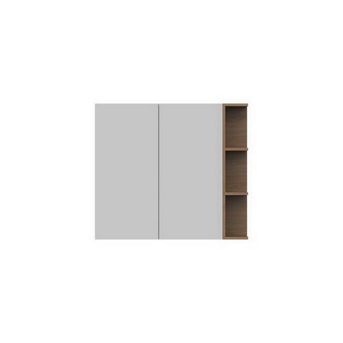Glacier Mirrored Cabinet 900mm 2 Door Right Hand Shelf [165117]